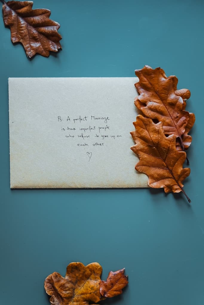 An anniversary letter with a love quote
