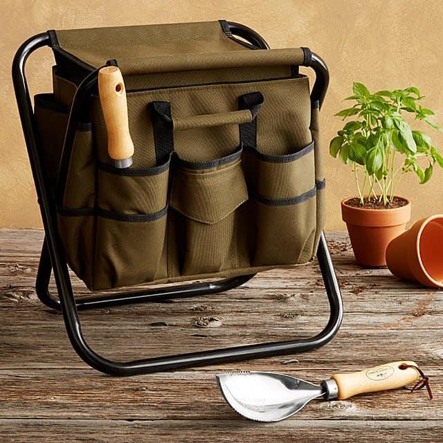 gifts for grandma: gardener's tool seat