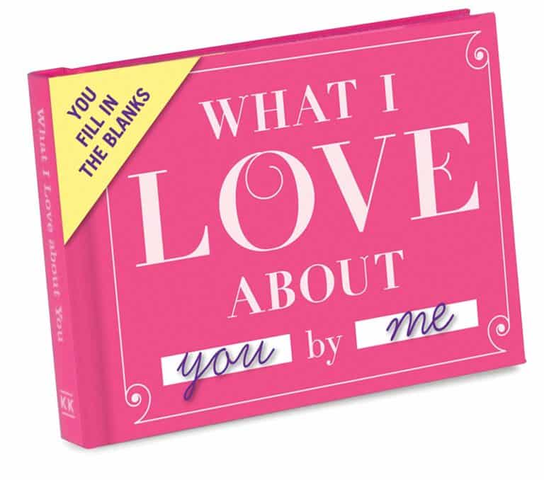 """grandparents gifts from grandchildren: """"knock knock what i love about you - fill in the love"""" book"""