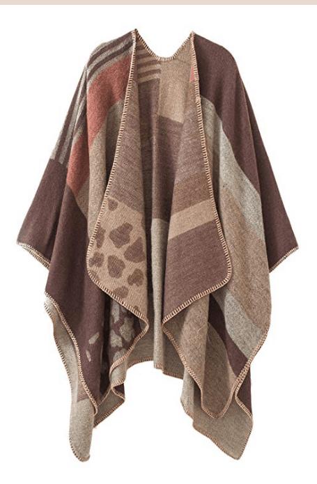 christmas gifts for grandma: poncho cape