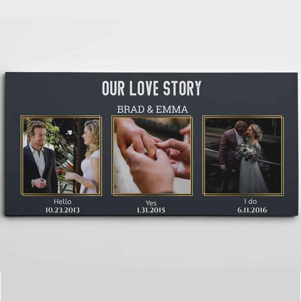 Our Love Story Custom 3 Photo Canvas-Great Big Canvas Ideas