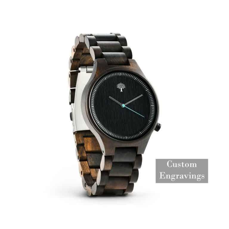 5 year anniversary gift idea: custom wooden watch