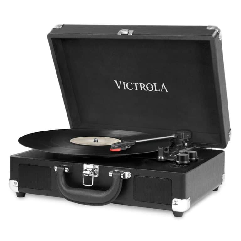 good gift for 5 yr anniversary: bluetooth turntable with speakers