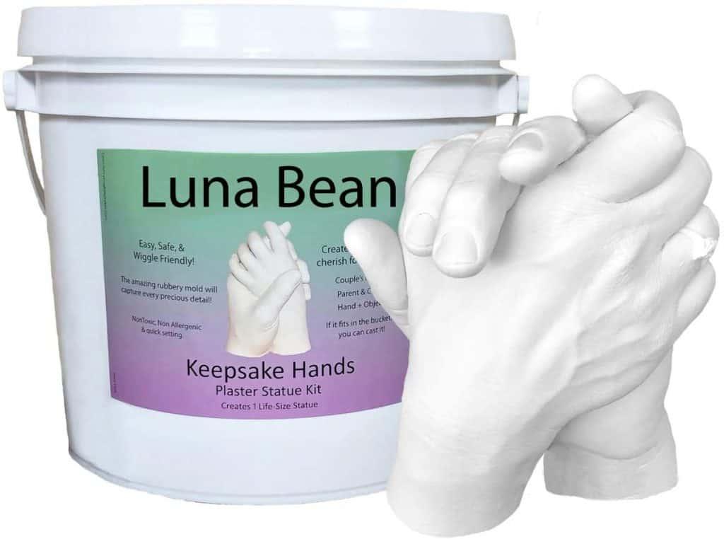 couple gifts ideas: keepsake hand casting kit