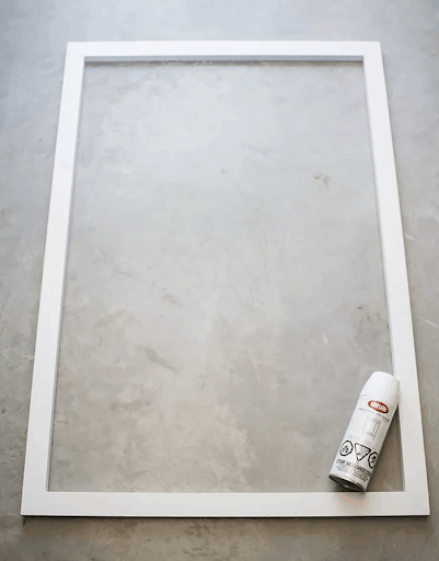 how to easily build a frame for your canvas