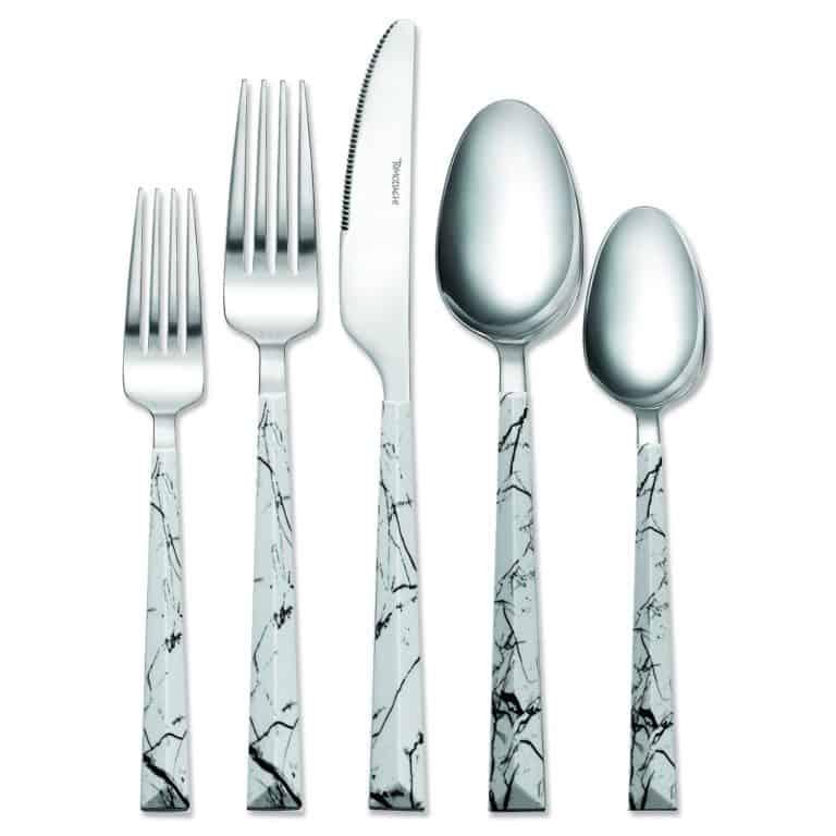 unique fifth anniversary gift: marble silverware set