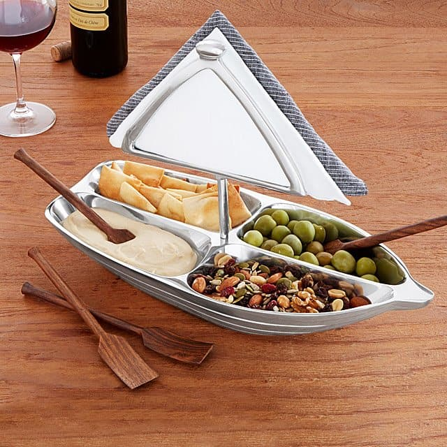 great anniversary gifts: rowboar serving bowl with napkin holder