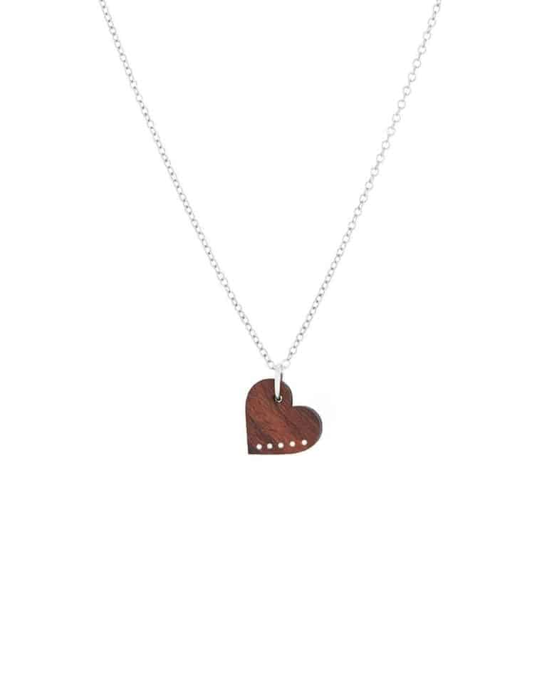 best 5 year anniversary gift idea for her: delicate wood necklace