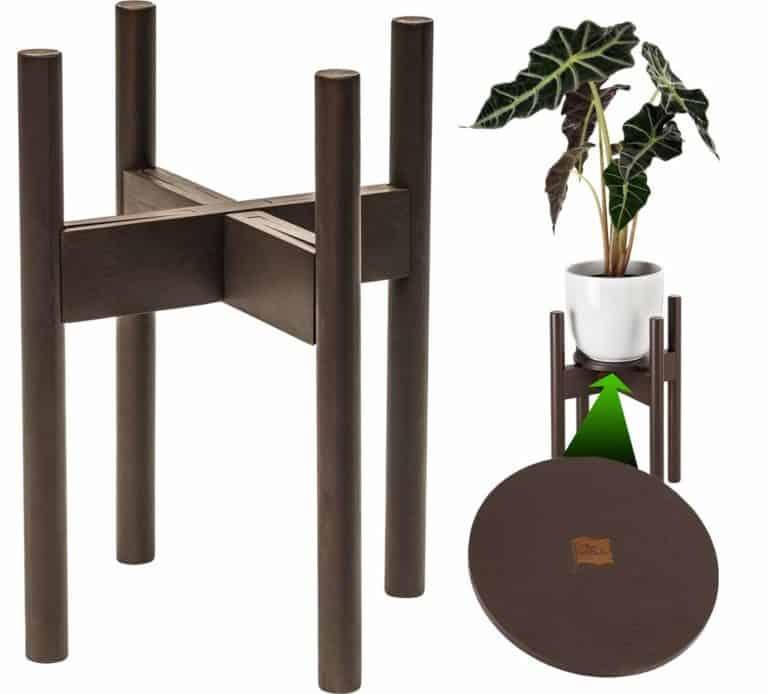 5th anniversary gift idea: wooden plant stand