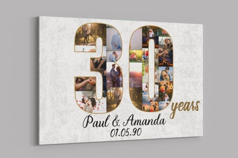 30th anniversary gifts - photo collage