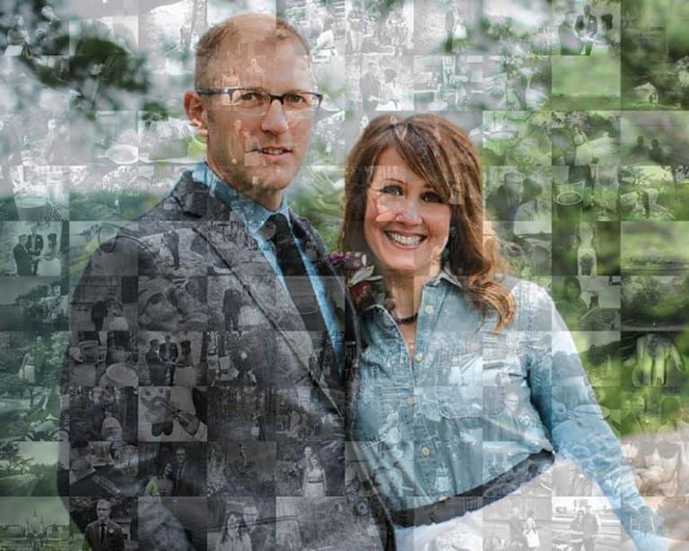 30 years married - photo mosaic print