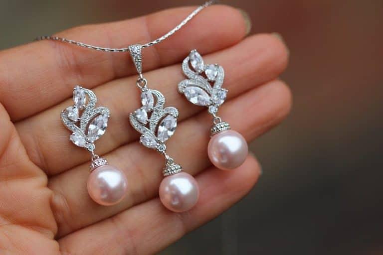 30th anniversary gift - pearl pink blush