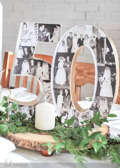 50th anniversary photo marquee
