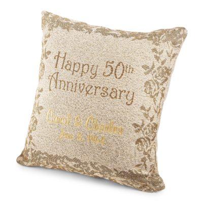 50th anniversary pillow