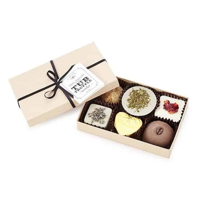unique candy gift for 6 year anniversary - truffles bathtub soaks