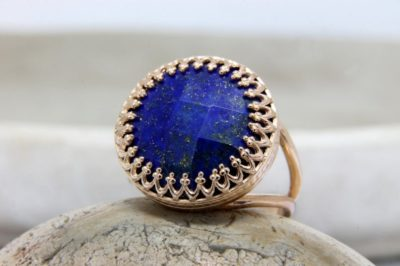 9 year anniversary gift for wife: lapis lazuli ring