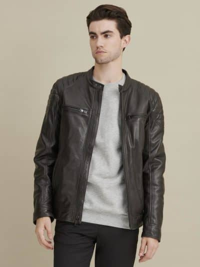 9 year wedding anniversary gift for him: leather jacket