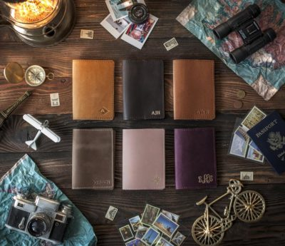Leather Passport Cover Personalized