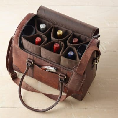 3rd anniversary gifts for him:Wine Bag