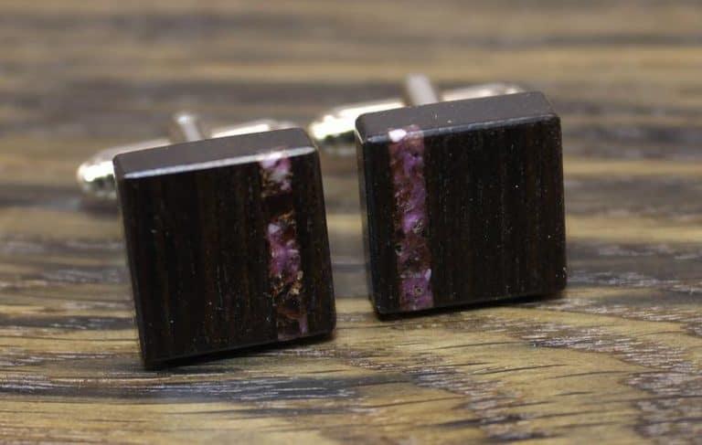 six year anniversary gemstone gift: amethyst cufflinks