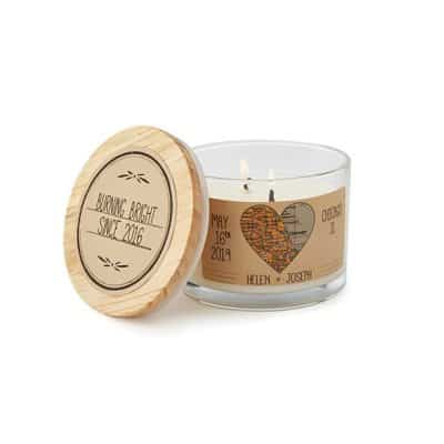 practical 50th wedding anniversary gifts: anniversary map candle