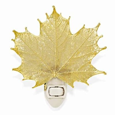 50th anniversary gift: 24k gold coated maple leaf night light