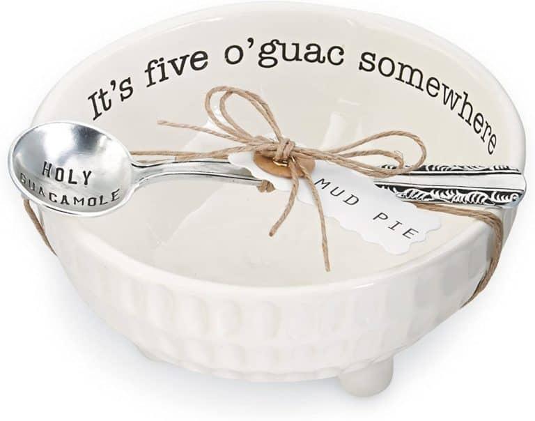 nine year anniversary gift: guacamole and salsa serving dish set