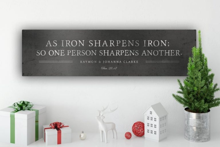 meaningful 6th wedding anniversary gift for them: iron sign with quote