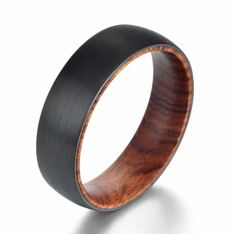 iron & wood ring: traditional & modern six year anniversary gift idea