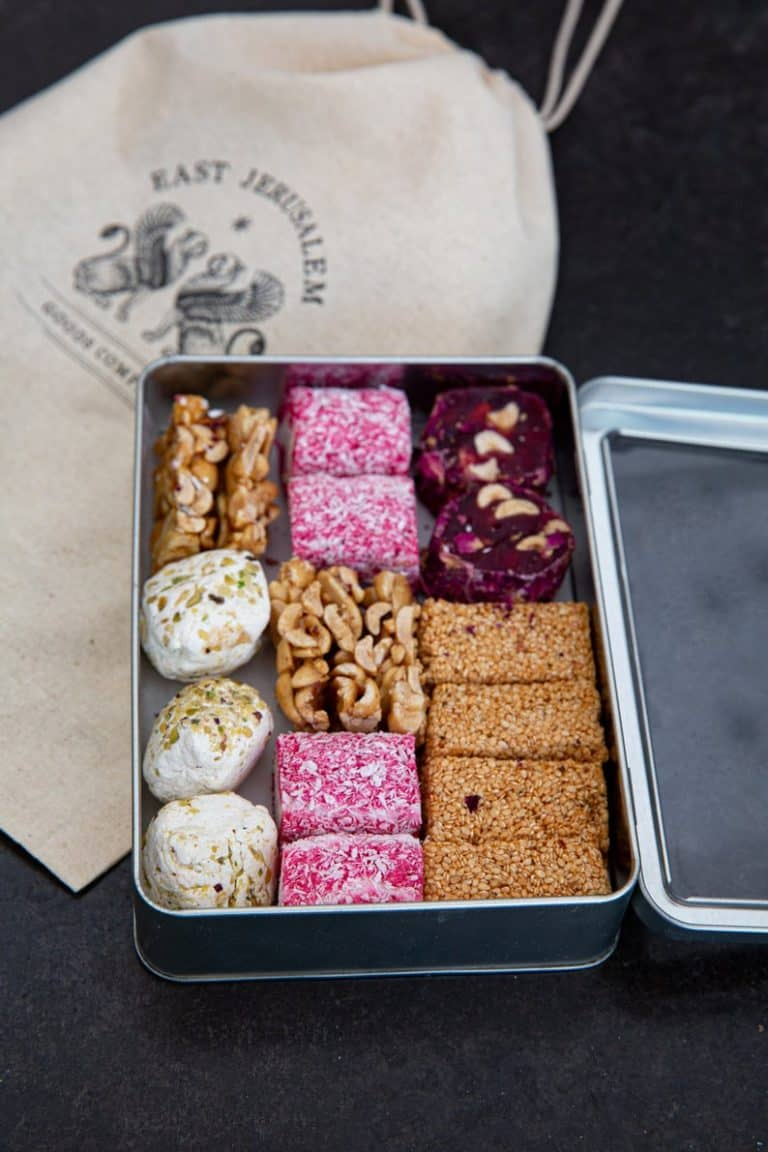 candy gift for couples on 6th anniversary: jerusalem candy gift box