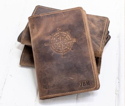 9th wedding anniversary gifts for him: leather journal