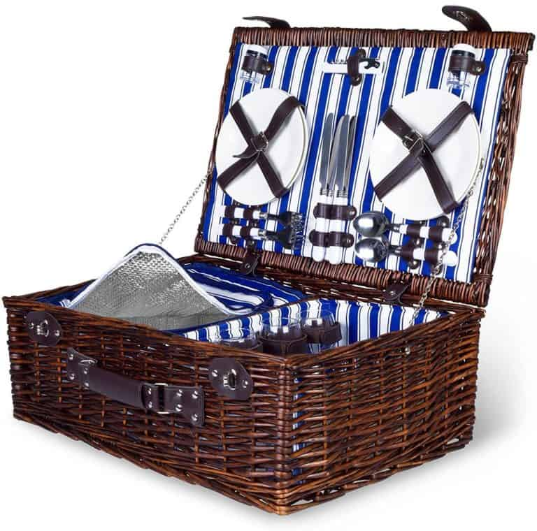 willow gifts: woven willow picnic basket