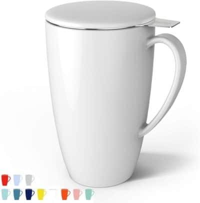 9th anniversary gift idea for her: porcelain tea mug