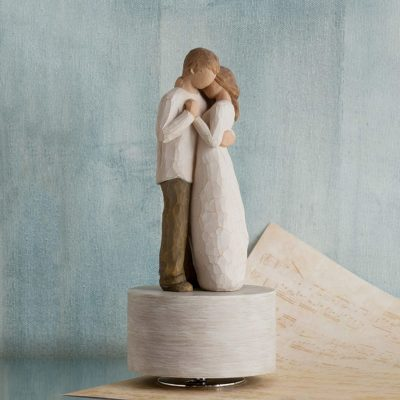 9th wedding anniversary gift idea for her: musical figure from Willow Tree