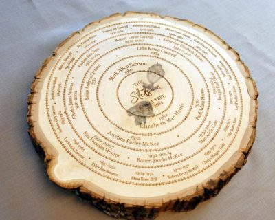 unusual 50th anniversary gifts: wooden family tree
