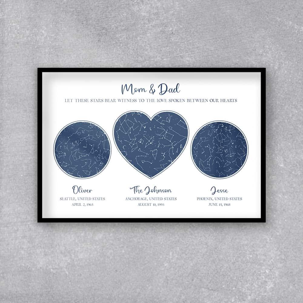 Custom Star Map Framed Print -