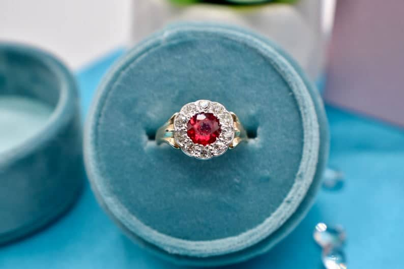 ruby ring - 40th anniversary gift
