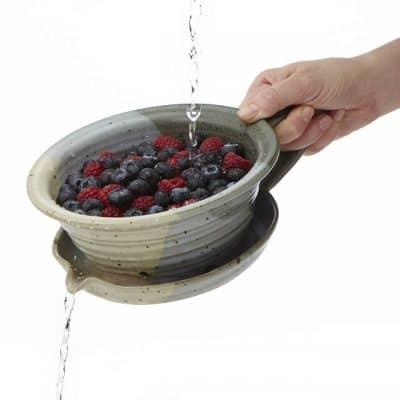 berry buddy stoneware strainer