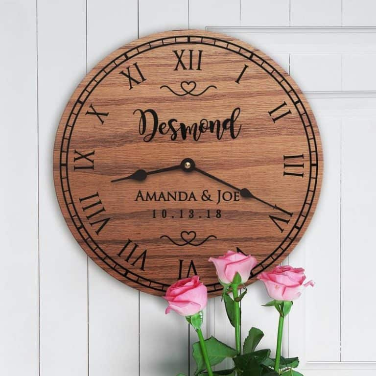 first anniversary gifts - personalized clock