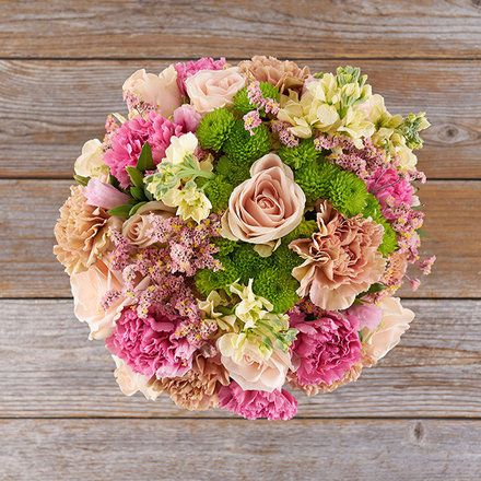 paper wedding anniversary - carnations bouquet
