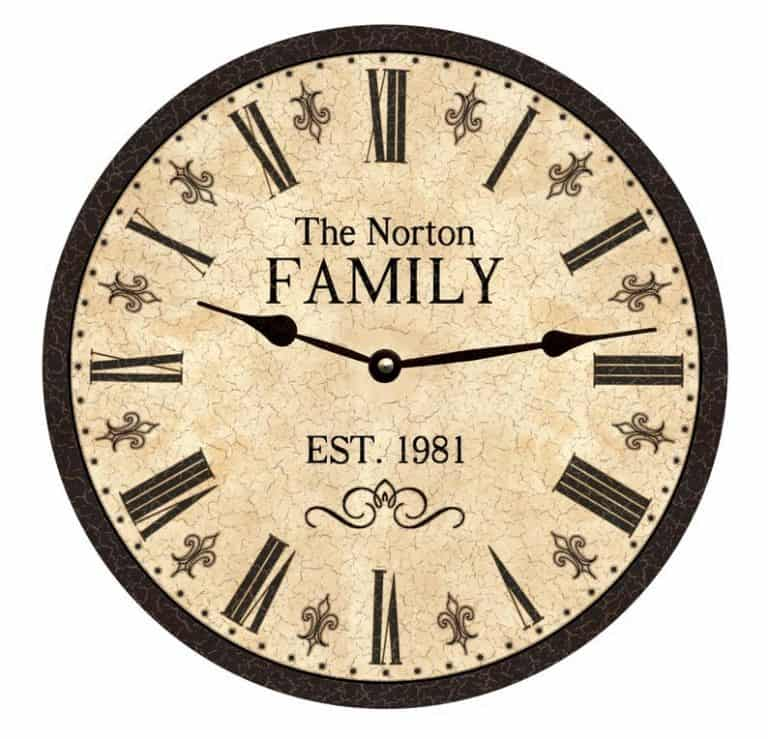 anniversary gifts for couples who have everything - family clock personalized