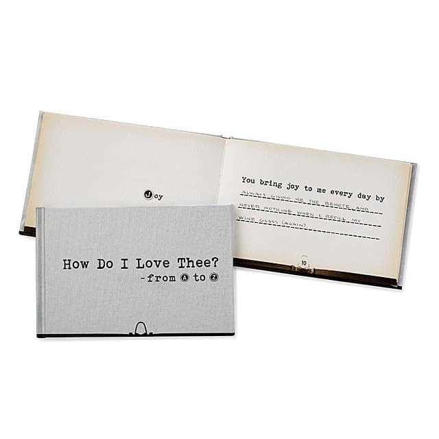 valentine gifts for men: how do i love thee from a to z