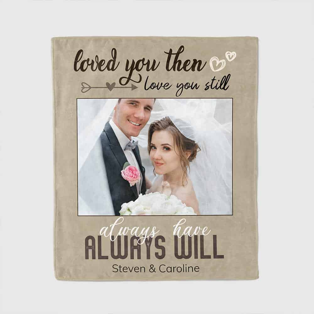 good valentines day gifts for him: custom photo blanket