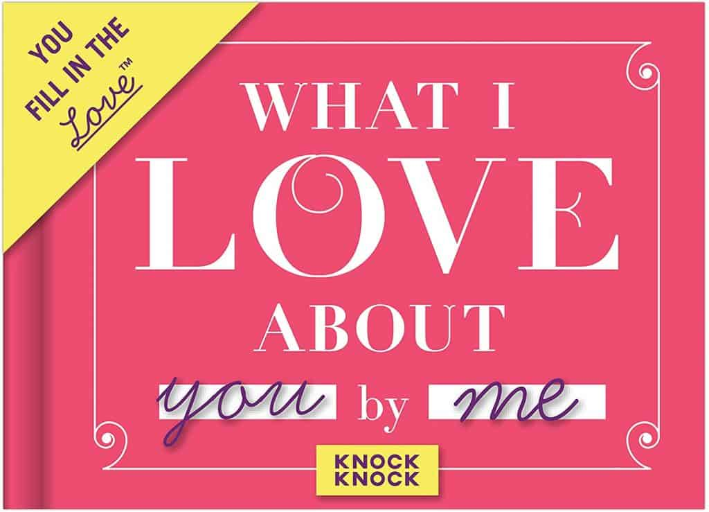 valentines gift idea for husband: what i love about you fill in the love book