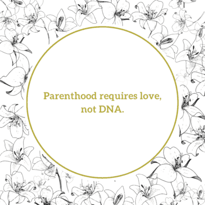 A quote for stepmother - Parenthood requires love, not DNA