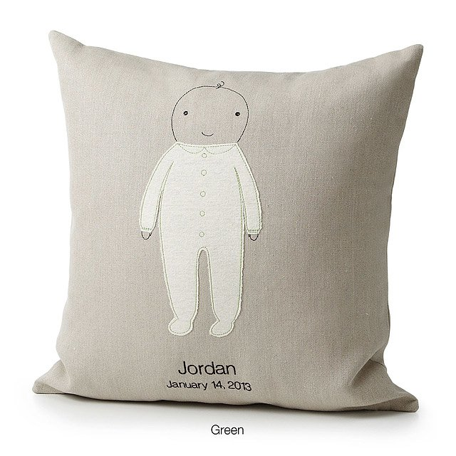new mom mothers day gifts: personalized baby pillow