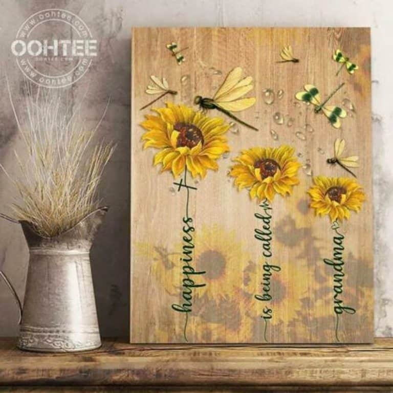 mother's day gifts for grandma - sunflower print
