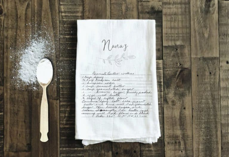 mother's day gifts for grandma - written recipe tea