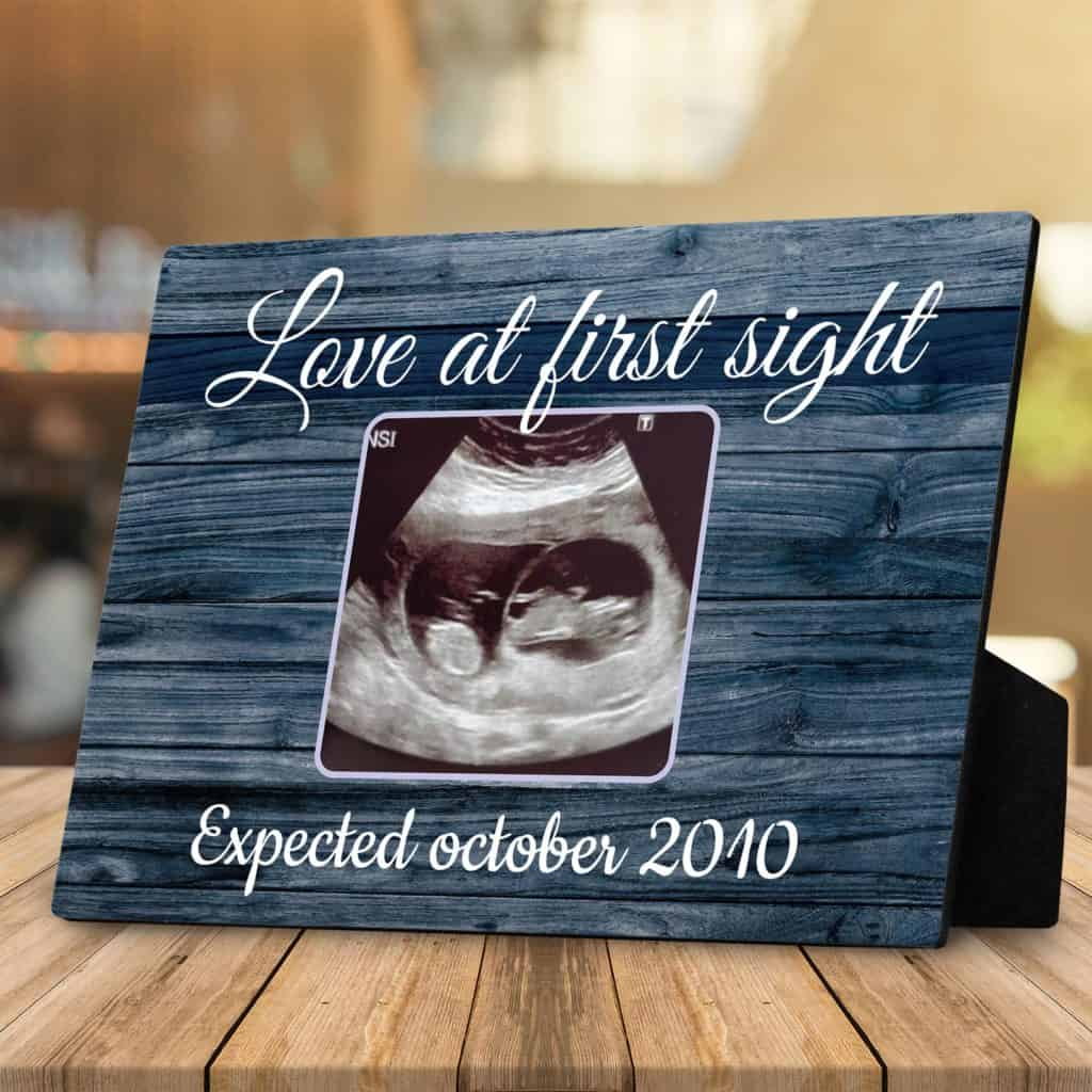 mothers day gifts for mothers to be: sonogram photo plaque