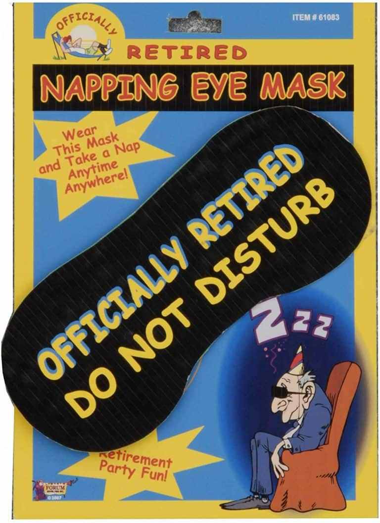 napping eye mask - funny retirement gifts